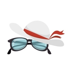 Hat female with glasses vector
