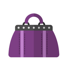 Holdall bag flat color icon of vector