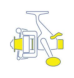 icon of fishing reel vector image