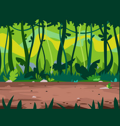 Jungle path game background vector