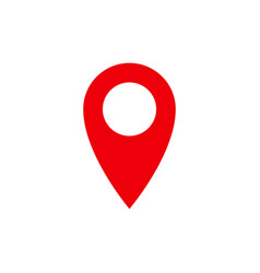 location pin red gps navigation icon vector image