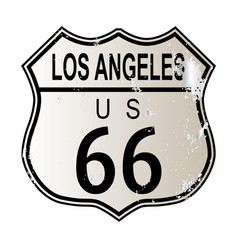 Los angeles route 66 sign vector