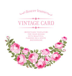 Luxurious vintage card vector