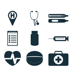 medical signs set vector image