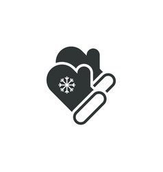 mittens icon simple winter sign vector image