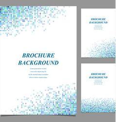 Modern brochure booklet cover template design vector