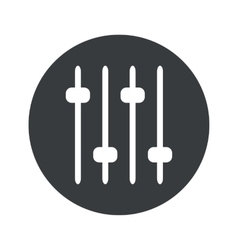 Monochrome round faders icon vector image