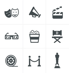 Movie Icons design vector