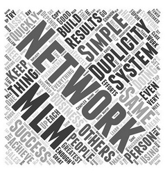 Networking MLM Word Cloud Concept vector image