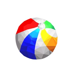 origami beach ball vector image