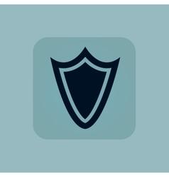 Pale blue shield icon vector