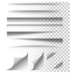 paper shadow effect on a isolated background vector image