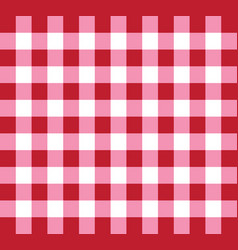 Picnic checkered tablecloth pattern red and white vector