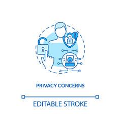 privacy concerns concept icon vector image