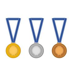 set medals vector image