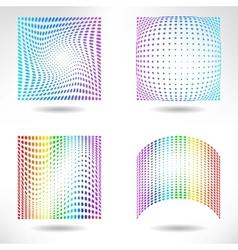 Set of Modern Flat Halftone Backgrounds vector image