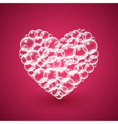 Shiny Heart of Bubbles vector