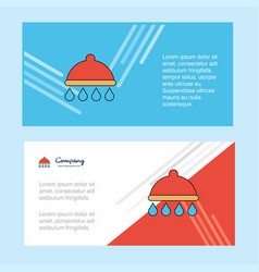 shower abstract corporate business banner vector image