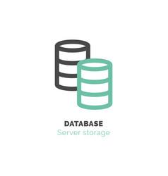 simple icon database flat bicolor line design vector image