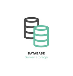 simple icon of database flat bicolor line design vector image