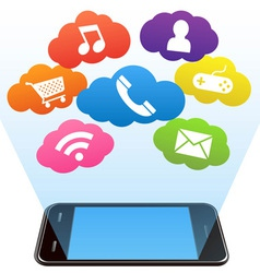 Smart phone and apps vector