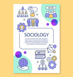 Sociology poster template layout population vector