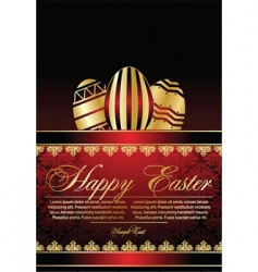 stylized Easter eggs vector image vector image