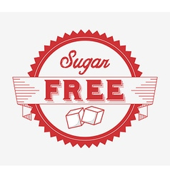 Sugar free design vector