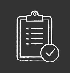 Task planning chalk icon vector