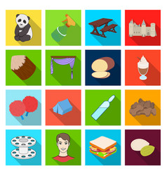 Textiles history business and other web icon vector