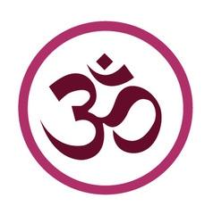 The Hinduism Symbols Om design vector
