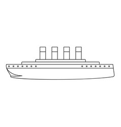 Titanic icon outline style vector