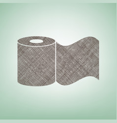 Toilet paper sign brown flax icon on vector