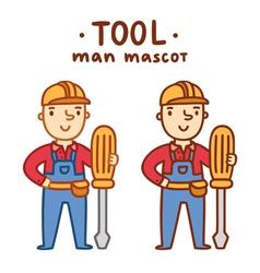 Tool man mascot vector
