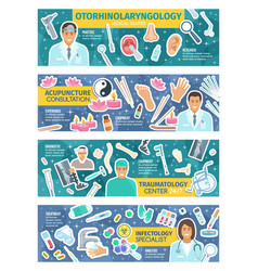 Traumatology acupuncture and infectology medicine vector