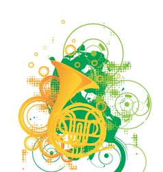 trombone graphic vector image