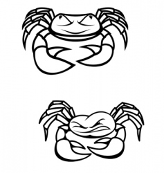 Two crabs vector