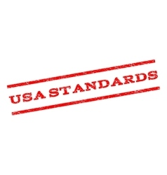 USA Standards Watermark Stamp vector