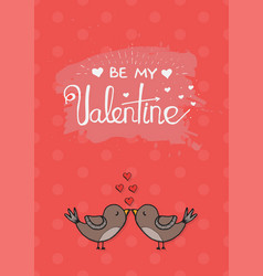 Valentines day love card template vector