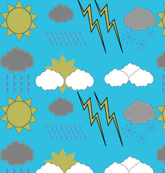 Weather pattern seamless vector