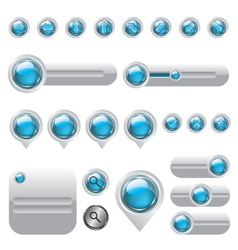 Web elements set buttons vector image