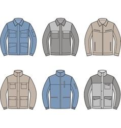 Work jacket set vector