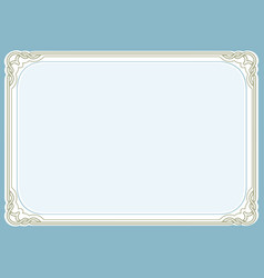 blue green background and frame vector image vector image
