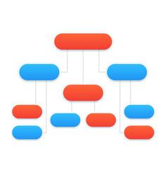 flowchart template modern design vector image vector image
