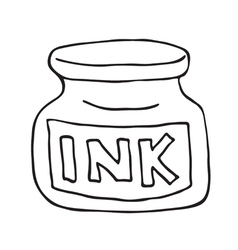 Ink pot icon vector image vector image