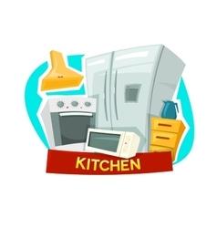Kitchen concept design vector image