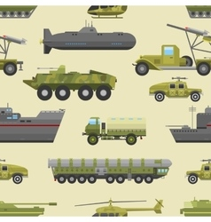 Military trucks pattern vector image vector image