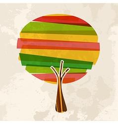 Multicolor single tree vector image vector image