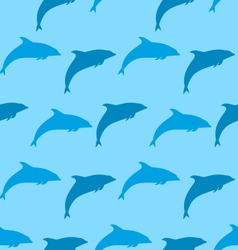 Seamless Pattern with Dolphin Marine Mammal Animal vector image