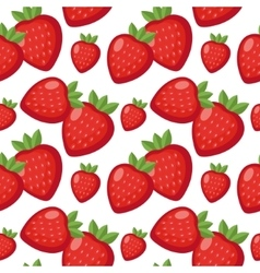 Strawberry seamless pattern Berry endless vector image vector image